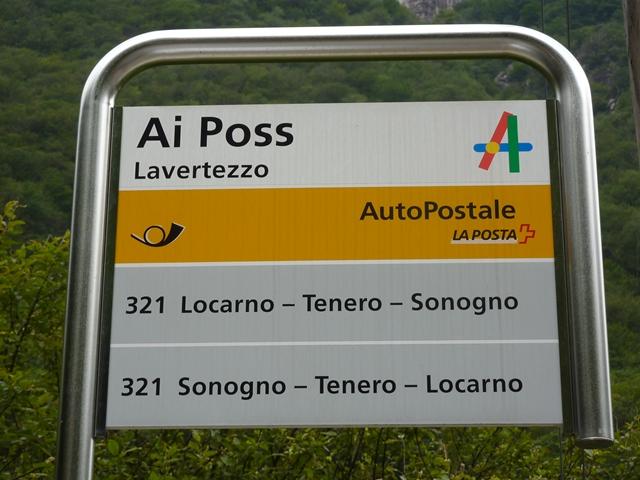 Haltestelle Postauto Ai Posse